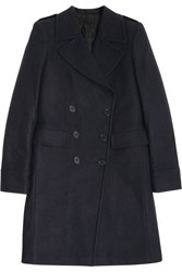 Blk Dnm 10 Wool Blend Coat Blue