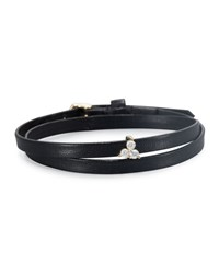 Ef Collection Mini Diamond Trio Choker Necklace Black