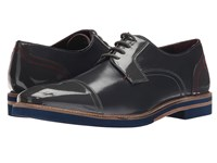 Ted Baker Braythe 2 Dark Grey Leather Men's Lace Up Cap Toe Shoes Gray