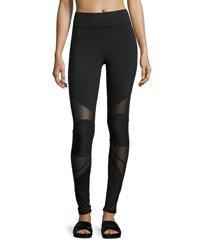 Michi Revolution Mesh Panel Performance Leggings Black