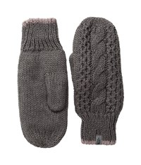 The North Face Cable Knit Mitt Rabbit Grey Quail Grey Extreme Cold Weather Gloves Gray