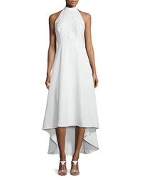 Keepsake All Talk Halter Neck High Low Dress Ivory