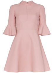 Valentino Crepe Couture Dress Pink