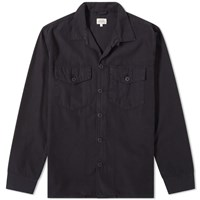 Hartford Jame Military Overshirt Blue
