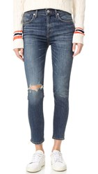 A Gold E Sophie High Rise Skinny Crop Jeans Santa Fe