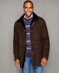 The Fur Vault Shearling Button Front Jacket