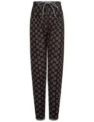 Ace And Jig Black Jacquard Cotton Drawstring Trousers Multi