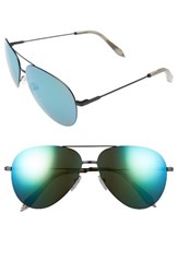 Victoria Beckham Women's Classic Feather 62Mm Aviator Sunglasses Black Turquoise Mirror Black Turquoise Mirror