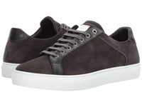 Mcm Suede Low Top Lace Up Sneakers Grey Men's Shoes Gray
