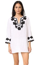 Tory Burch Applique Tunic Ivory