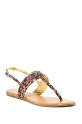 Red Circle Misty Flat Sandal Multi