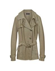 Forzieri Beige Leather Trench Coat