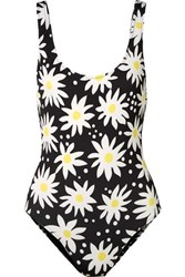 Solid And Striped The Anne Marie Floral Print Swimsuit Black