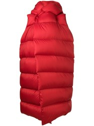 Rick Owens Padded Oversized Gilet Red