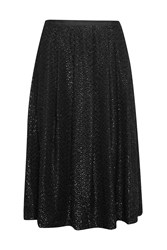 Great Plains Black Swan Metallic Skirt Black