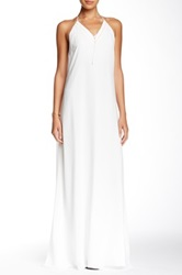 Andrew Marc Georgette Maxi Dress White