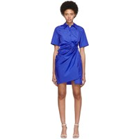 Ports 1961 Blue Short Sleeve Dress