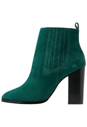 Ivy Revel Ariana High Heeled Ankle Boots Teal Green