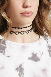 Forever 21 Heart Choker Set Black
