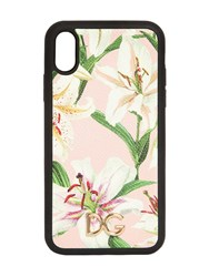 Dolce And Gabbana Lily Print I Phone Xr Cover Gigli Rosa