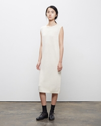 La Garconne Moderne Vintage Knit Dress Chalk