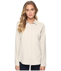 Royal Robbins Expedition Chill Long Sleeve Shirt Soapstone Women's Long Sleeve Button Up Beige