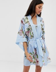 Ted Baker B By Harmony Floral Print Kimono In Blue