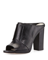 Eva High Heel Leather Mule Black Pour La Victoire