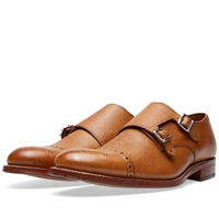 Grenson Ellery Double Strap Monk Shoe Tan Grain Leather