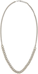 Maison Martin Margiela Silver Curb Chain Necklace