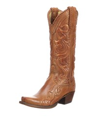 Lucchese Saratoga Tall Western Boots Brown