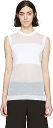 Mcq By Alexander Mcqueen White Solid And Sheer Sweater