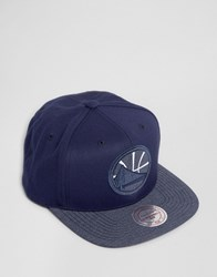 Mitchell And Ness Snapback Cap Golden State Warriors Navy