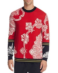 Mcq By Alexander Mcqueen Paisley Print Wool Blend Sweater Idaho Red Paisley