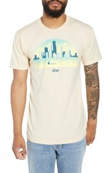 Casual Industrees Skyline Arch 3D Graphic T Shirt Cream