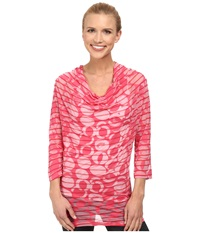 Lole Sheer Top Rhubarb Gelato Women's Long Sleeve Pullover Pink