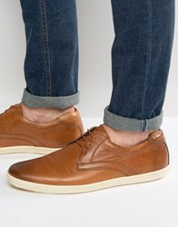 Base London Concert Leather Derby Shoes Tan
