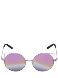 Matthew Williamson Cat Ears Round Metal Sunglasses