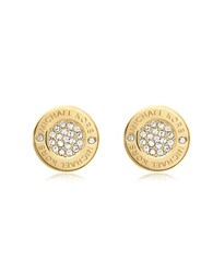 Michael Kors Heritage Pave Silver Tone Stud Earrings