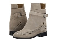Thakoon Fiona 02 Grey Suede Studs Women's Pull On Boots Gray