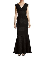 Teri Jon Sleeveless Lace Gown Black