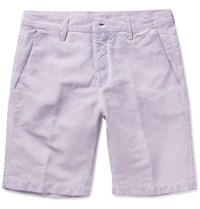 Massimo Alba Linen And Cotton Blend Shorts Lilac