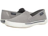 Sperry Quest Cay Canvas Grey Women's Slip On Shoes Gray