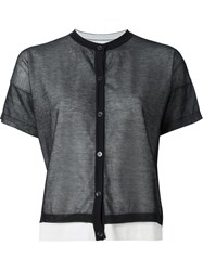 Marni Short Sleeve Cardigan Black
