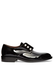 Givenchy Patent Leather Slip On Loafers Black