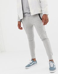 Another Influence Slim Fit Pannel Jogging Bottoms Grey