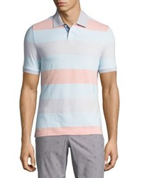 Original Penguin Birdseye Striped Cotton Polo Shirt High Rise