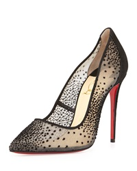 Christian Louboutin Follies Suede Spotted Lace Red Sole Pump