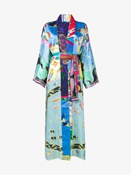 Rianna Nina Printed Long Sleeve Kimono Jacket Multicolour