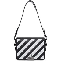 Off White Black Diagonal Flap Bag